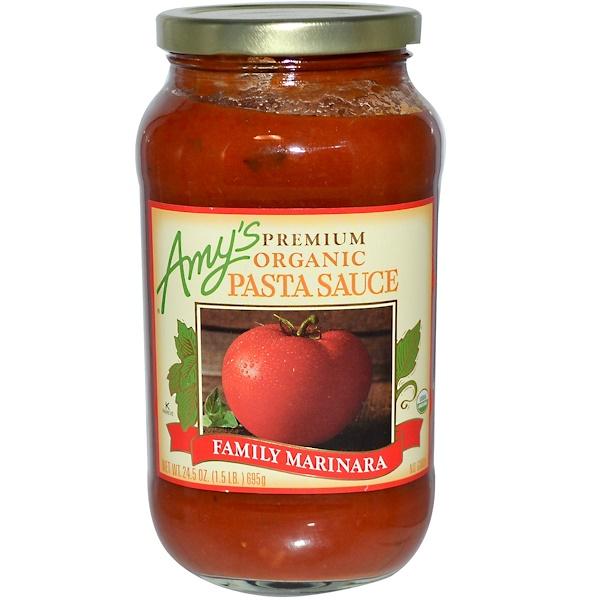 Amy's, Premium Organic Pasta Sauce, Family Marinara, 24.5 oz (695 g) (Discontinued Item)