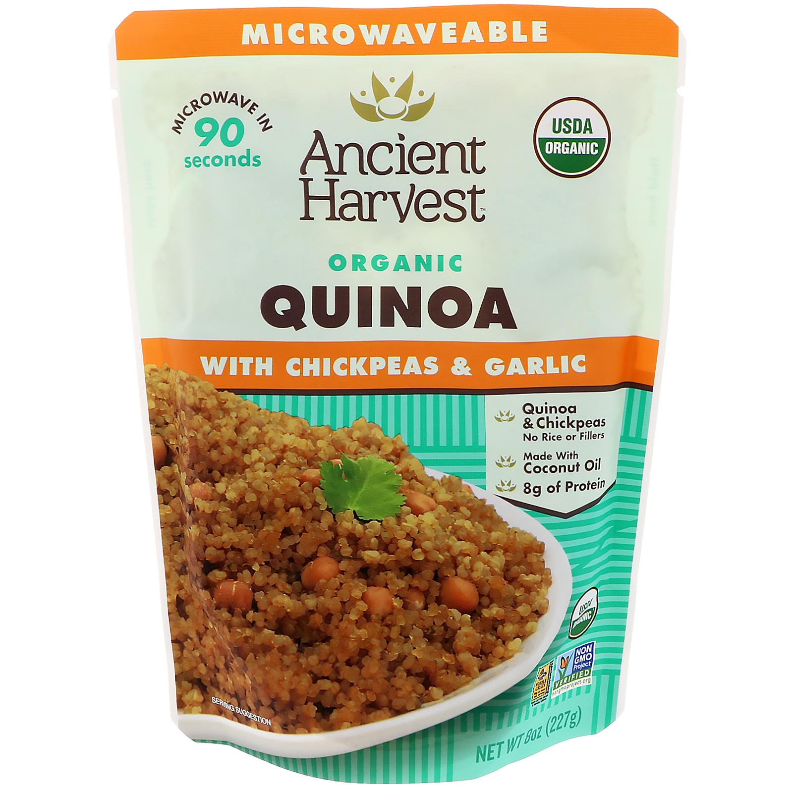 Ancient Harvest, Organic, Quinoa with Chickpeas & Garlic ...