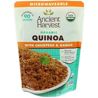Ancient Harvest, Organic, Quinoa with Chickpeas & Garlic, 8 oz (227 g)