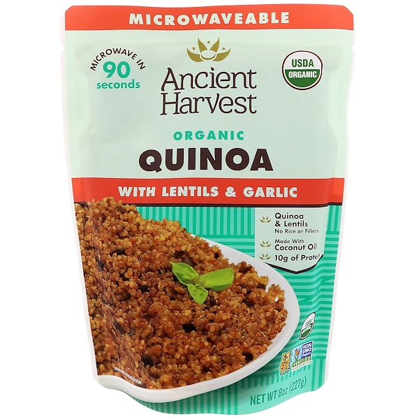 Ancient Harvest, Organic, Quinoa with Lentils & Garlic, 8 oz (227 g) (Discontinued Item)