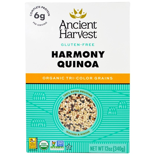 Ancient Harvest, Organic Quinoa, Harmony, Tri-Color Blend, 12 oz (340 g)
