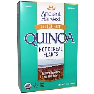 Ancient Harvest, Quinoa Flakes, Organic White Grains, 12 oz (340 g)