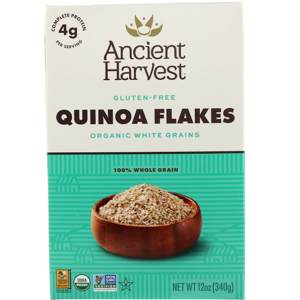 Ancient Harvest, Quinoa Flakes, Organic White Grains, 12 oz (340 g) (Discontinued Item)