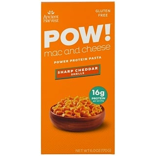 Ancient Harvest, ¡POW! Macarrón con queso, Caracoles Cheddar intenso, 6,0 oz (170 g)