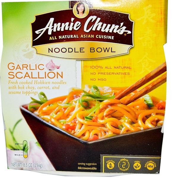 Annie Chun's, Noodle Bowl, Garlic Scallion, Mild, 8.3 oz (234 g) (Discontinued Item)