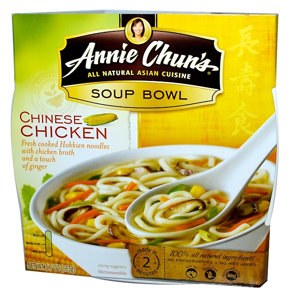 Annie Chun's, Soup Bowl, Chinese Chicken, Mild, 5.7 oz (163 g) (Discontinued Item)