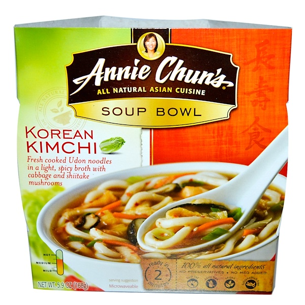 Annie Chun's, Soup Bowl, Korean Kimchi, 5.9 oz (168 g) (Discontinued Item)