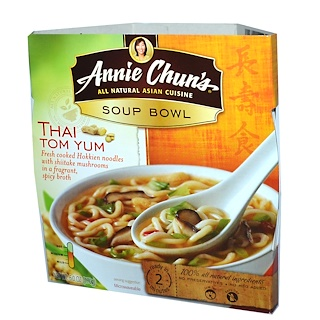 Annie Chun's, Soup Bowl, Thai Tom Yum, Medium, 6.0 oz (170 g)