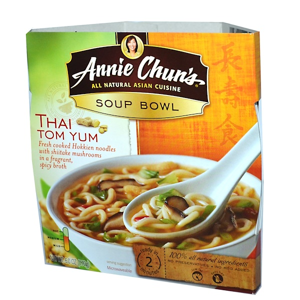 Annie Chun's, Soup Bowl, Thai Tom Yum, Medium, 6.0 oz (170 g) (Discontinued Item)