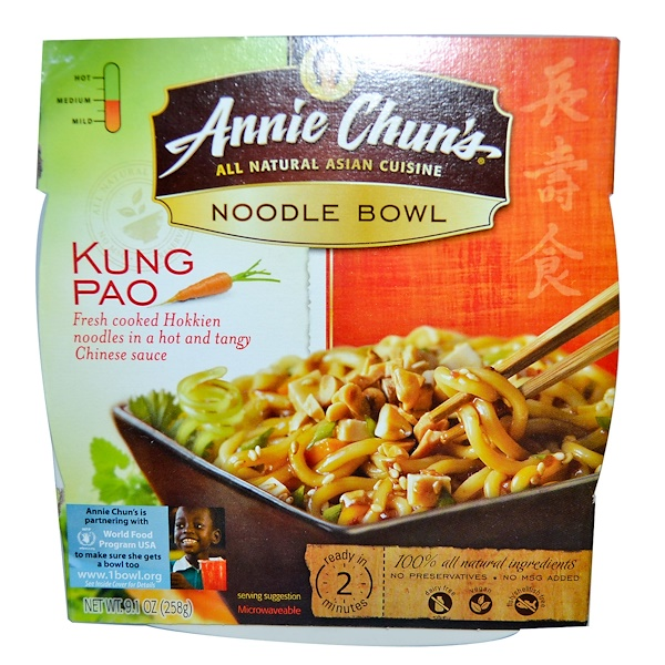 Annie Chun's, Noodle Bowl, Kung Pao, Medium, 9.1 oz (258 g) (Discontinued Item)