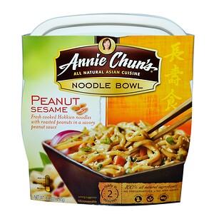 Annie Chun's, Тарелка лапши, арахис и кунжут, мягкая, 8,8 унц. (250 г)