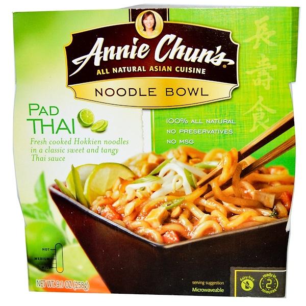 Annie Chun's, Лапша быстрого приготовления, Пад Тай , неострая 9.1 унции (258 г)