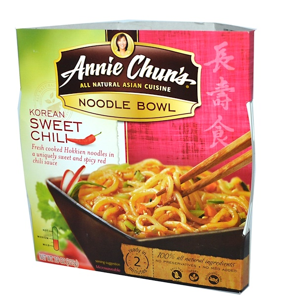 Annie Chun's, Noodle Bowl, Korean Sweet Chili, Medium, 7.9 oz (225 g) (Discontinued Item)