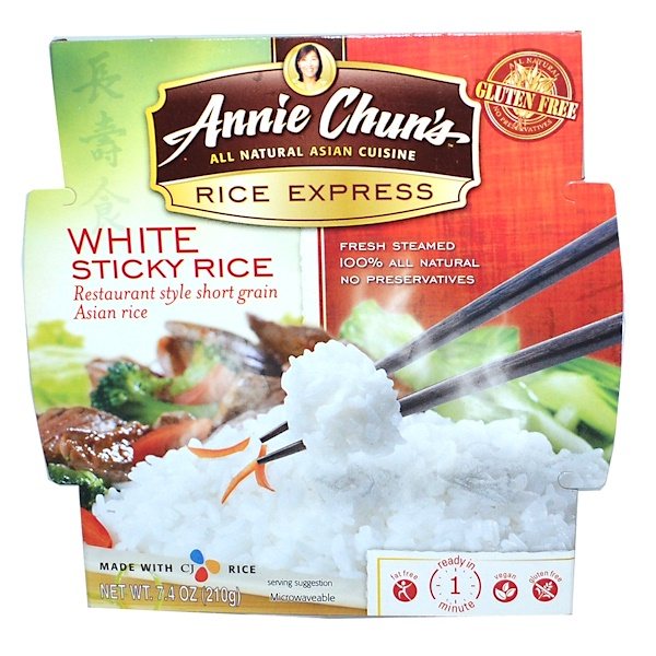 Annie Chun's, Rice Express, White Sticky Rice, 7.4 oz (210 g) (Discontinued Item)