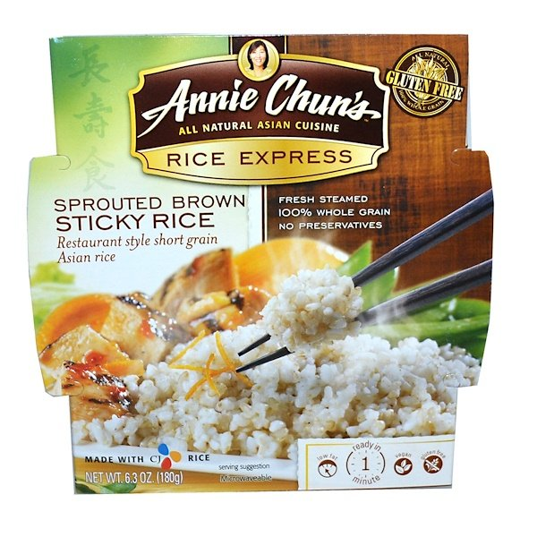 Annie Chun's, Rice Express, Sprouted Brown Sticky Rice, 6.3 oz (180 g) (Discontinued Item)