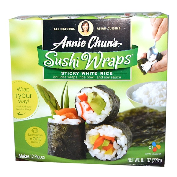 Annie Chun's, Sushi Wraps, Sticky White Rice, 8.1 oz (228 g) (Discontinued Item)