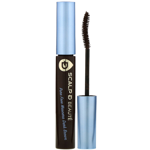 Scalp-D Beaute, Pure Free Mascara, Dark Brown, 0.21 oz (6 g)