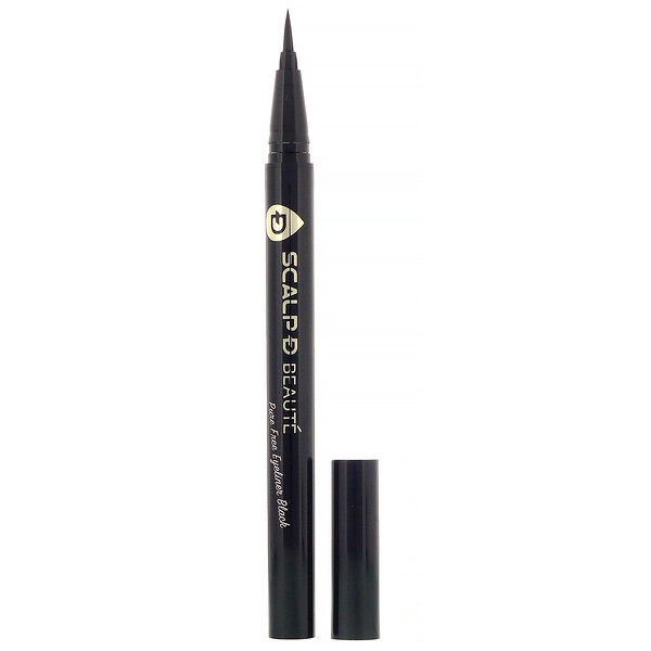 Scalp-D Beaute, Pure Free Eyeliner, Black, 0.02 fl oz (0.57 ml)