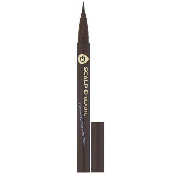 Scalp-D Beaute, Pure Free Eyeliner, Dark Brown, 0.02 fl oz (0.57 ml)