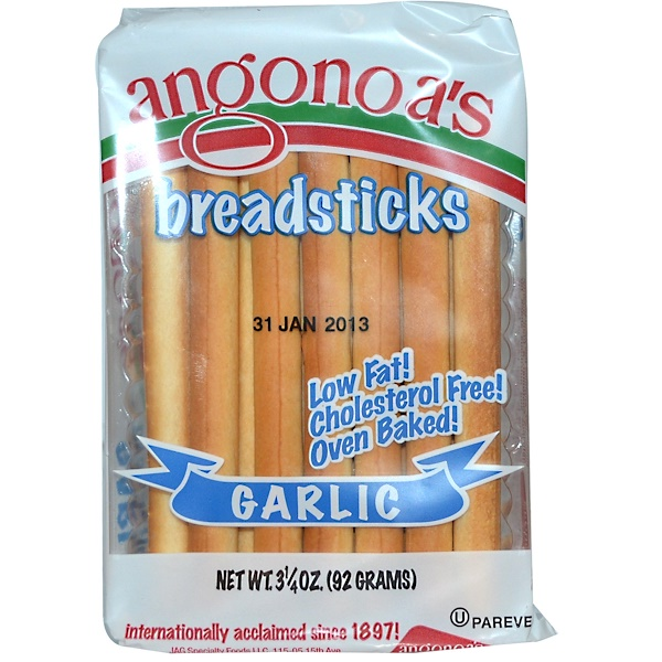 Angonoa's, Breadsticks, Garlic, 3.25 oz (92 g) (Discontinued Item)