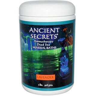 Ancient Secrets, Lotus Brand Inc., Aromatherapy Dead Sea Mineral Baths, Lavender, 2 lbs (908 g)
