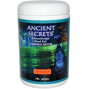 Ансиент Секретс, Лотус Бренд Инк, Aromatherapy Dead Sea Mineral Baths, Lavender, 2 lbs (908 g) отзывы покупателей