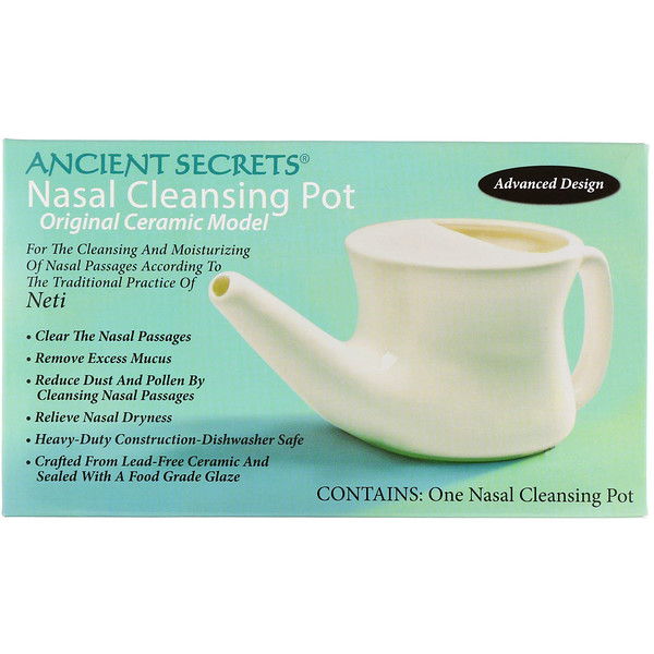 Ancient Secrets, Lotus Brand Inc., Nasal Cleansing Pot, 1 Pot