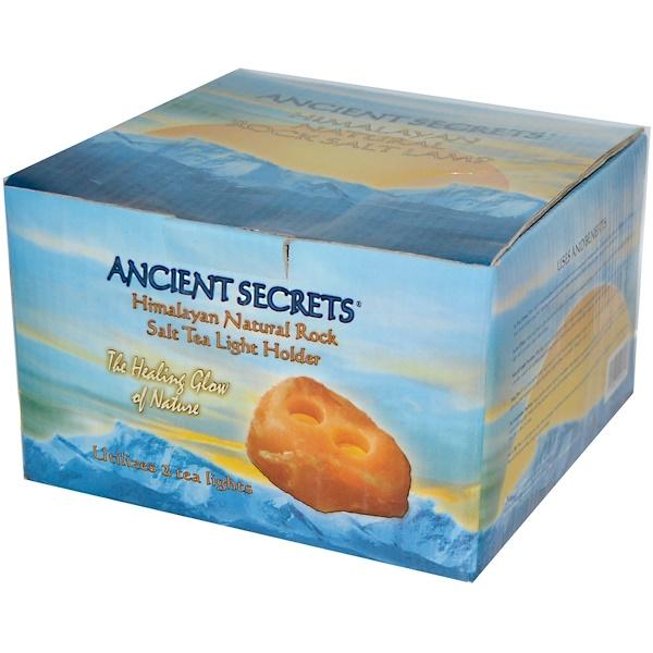 Ancient Secrets, Himalayan Natural Rock Salt Tea Light Holder, Utilizes 2 Tea Lights (Discontinued Item)