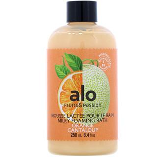 Alo, Milky Foaming Bath, Orange Cantaloup, 8.4 fl oz (250 ml)