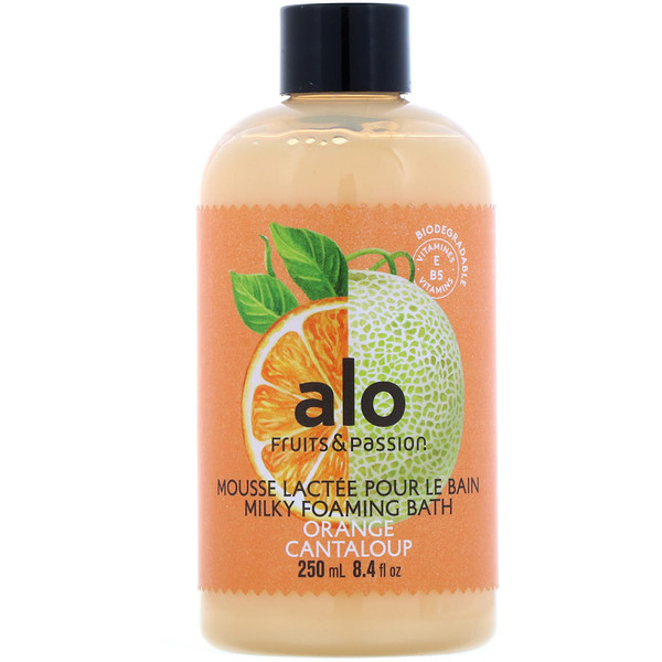 Fruits & Passion, AOL, Milky Foaming Bath, Orange Cantaloup, 8.4 fl oz (250 ml)