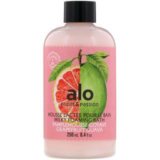 Alo, Milky Foaming Bath, Grapefruit Guava, 8.4 fl oz (250 ml)