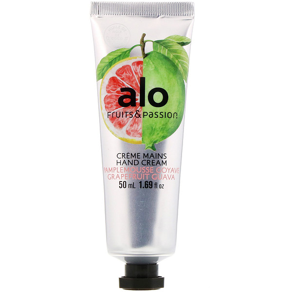 Fruits & Passion, ALO, Hand Cream, Grapefruit Guava, 1.69 fl oz (50 ml) (Discontinued Item)