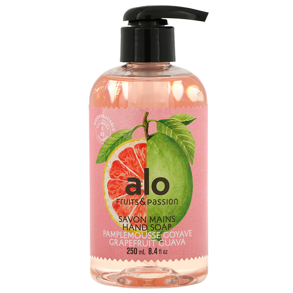 Fruits & Passion, ALO, Hand Soap, Grapefruit Guava, 8.4 fl oz (250 ml) (Discontinued Item)
