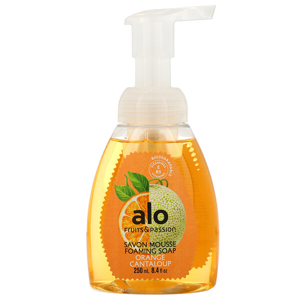 Fruits & Passion, ALO, Foaming Soap, Orange Cantaloup, 8.4 fl oz (250 ml) (Discontinued Item)