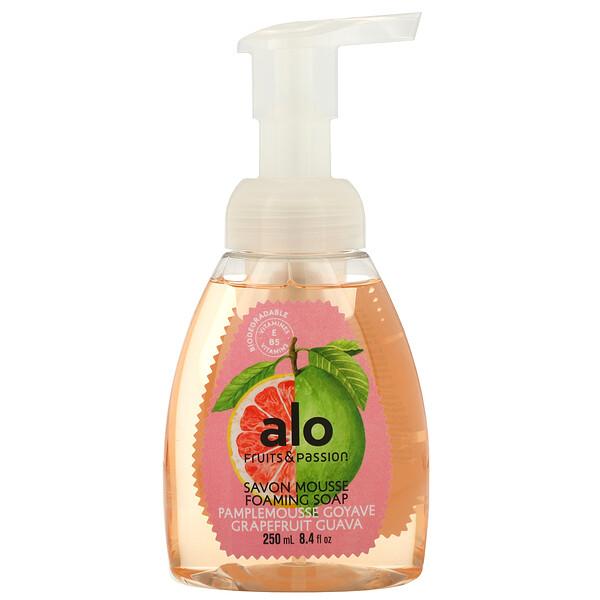 Fruits & Passion, ALO, Foaming Soap, Grapefruit Guava, 8.4 fl oz (250 ml) (Discontinued Item)