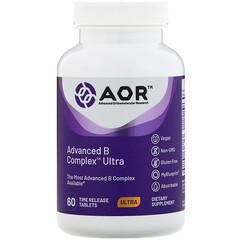 Advanced Orthomolecular Research AOR, Advanced 長效型複合維生素 B,60 片