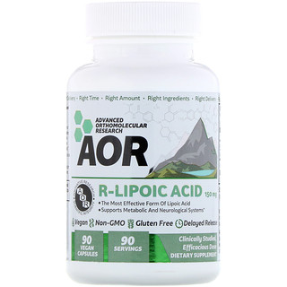Advanced Orthomolecular Research AOR, R-Lipoic Acid, 150 mg, 90 Vegan Capsules
