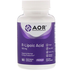 Эдвансд Ортомолекуляр Ресёрч, R-Lipoic Acid, 150 mg, 90 Vegetarian Capsules отзывы