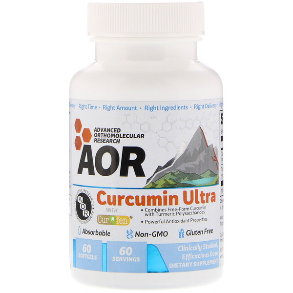 Advanced Orthomolecular Research AOR, Curcumin Ultra, 60 Softgels