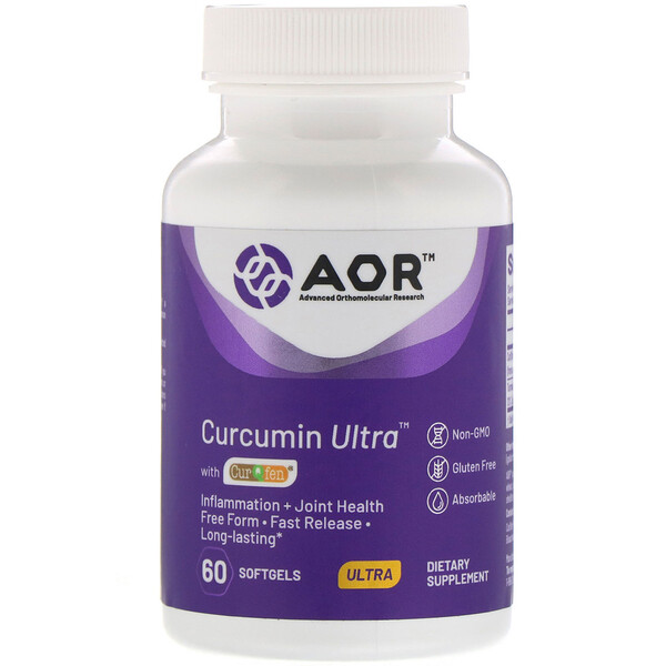 Advanced Orthomolecular Research AOR, Curcumin Ultra with CurQfen, 60 Softgels (Discontinued Item)