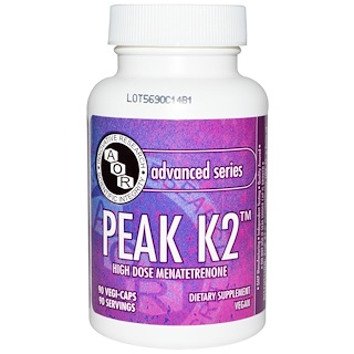 Advanced Orthomolecular Research AOR, Advanced Series, Peak K2, 90 Veggie Caps