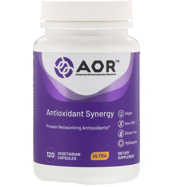 Advanced Orthomolecular Research AOR, Antioxidant Synergy, 120 Vegetarian Capsules
