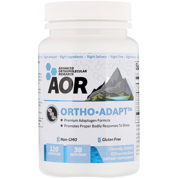 Advanced Orthomolecular Research AOR, Ortho-Adapt, 120 Capsules