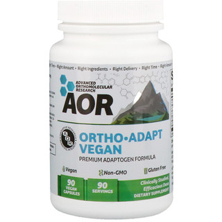 Advanced Orthomolecular Research AOR, Ortho Adapt Vegan, 90 Vegan Capsules