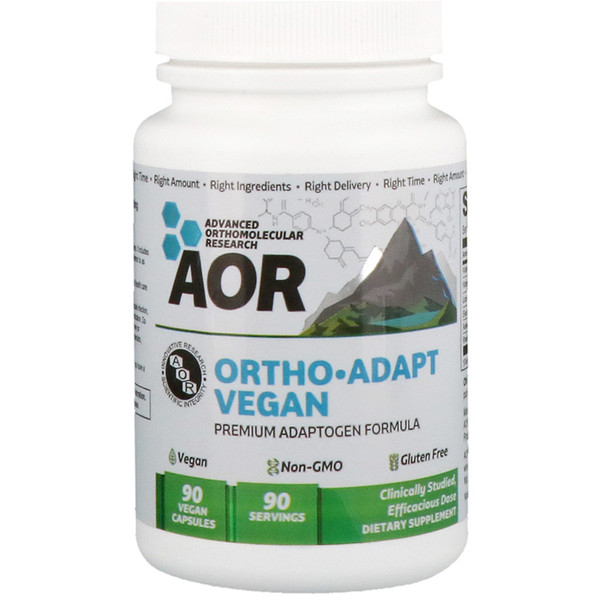 Advanced Orthomolecular Research AOR, أورثو أدابت فيجان، 90 كبسولة نباتية (Discontinued Item)