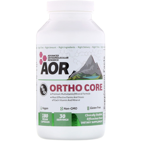 Advanced Orthomolecular Research AOR, Ortho-Core, 180 Vegan Capsules