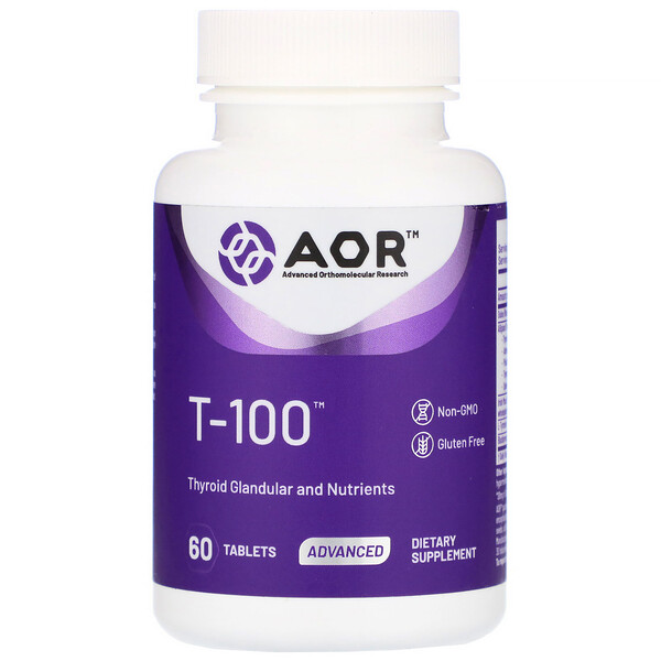 Advanced Orthomolecular Research AOR, T-100, 60 Tablets