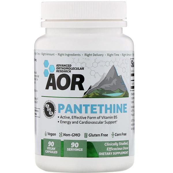Advanced Orthomolecular Research AOR, Pantethine, 90 Vegan Capsules