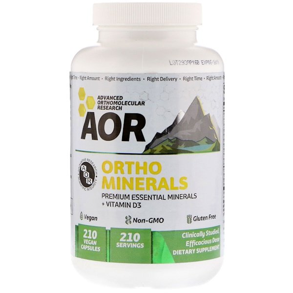 Advanced Orthomolecular Research AOR, Ortho Minerals, 226 mg, 210 Vegan Caps (Discontinued Item)