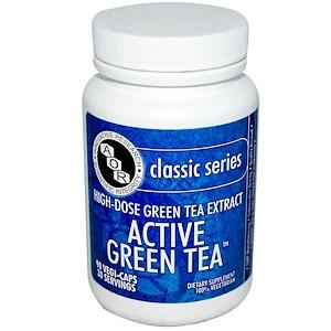 Advanced Orthomolecular Research AOR, Классическая серия, экстракт зеленого чая, 90 растительных капсул